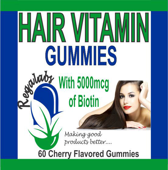 Private Label Hair Vitamin Gummies, 60 Count