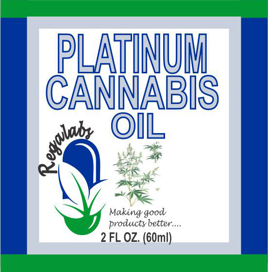 Private Label Platinum Cannabis Oil, 2oz