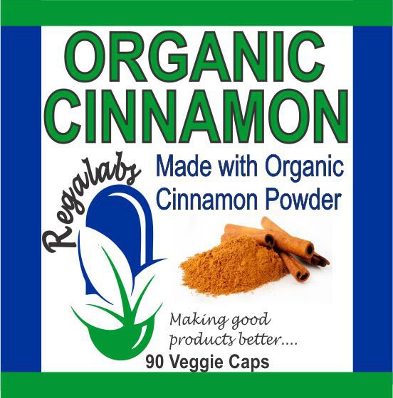 Private Label Organic Cinnamon 90 Veggie Caps