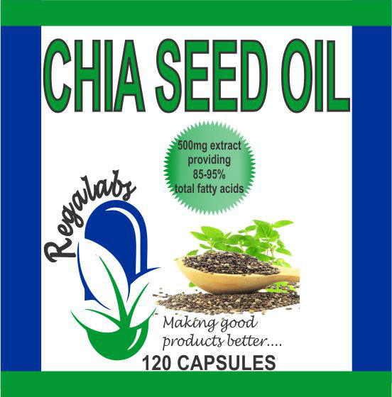 Private Label Chia Seed Oil, 120 Capsules