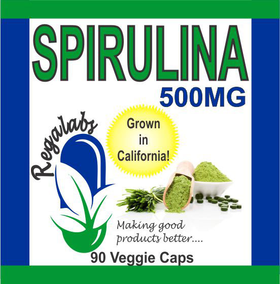 Private Label Spirulina 90 Veggie Capsules
