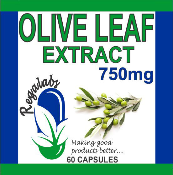 Private Label Olive Leaf Extract 750mg 60 Capsules
