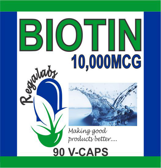 Private Label Biotin 10,000mcg, 90 Veggie Capsules