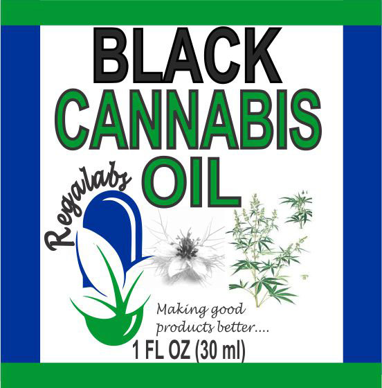 Private Label Black Cannabis Oil, 1oz
