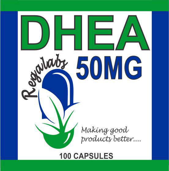 Private Label DHEA 50mg, 100 Capsules