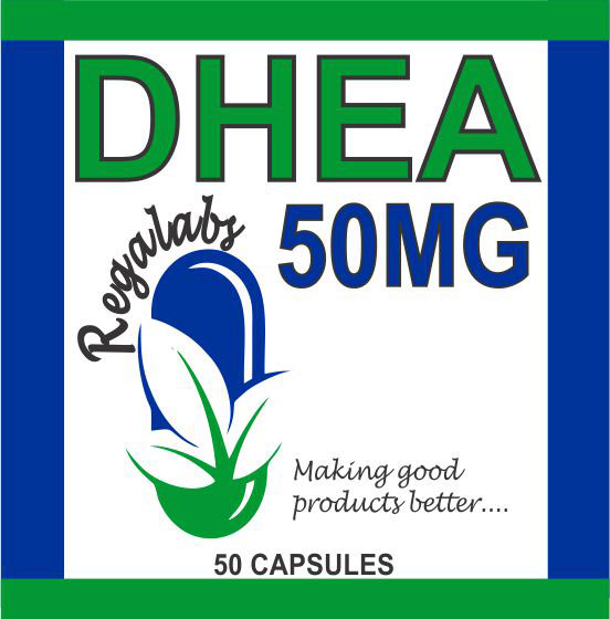 Private Label DHEA 50mg, 50 Capsules