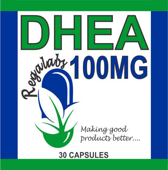 Private Label DHEA 100mg, 30 Capsules