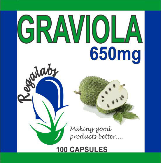 Private Label Graviola 650mg, 100 Capsules