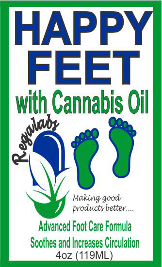 Private Label Happy Feet with Cannabis Oil, 4oz