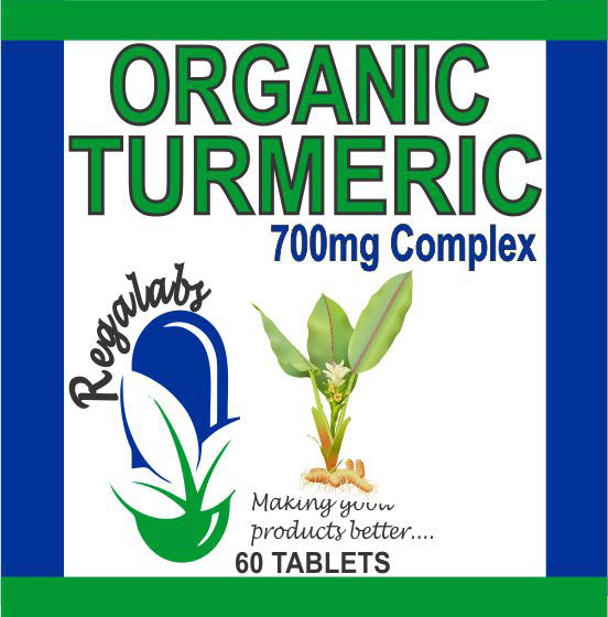 Private Label Organic Turmeric 700mg, 60 Tablets
