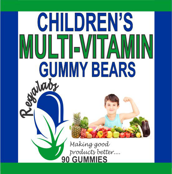 Private Label Children's Multi-Vitamin Gummy Bears, 90 Count