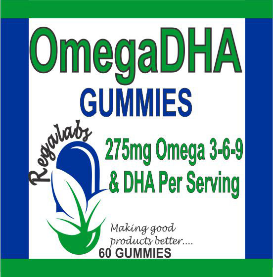 Private Label OmegaDHA Gummies, 60 Count