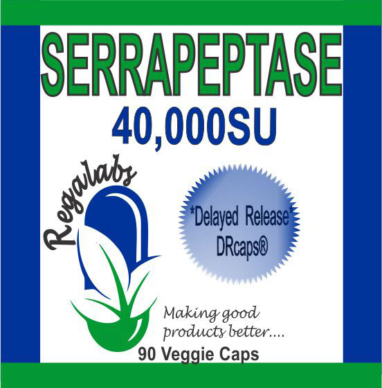 Private Label Serrapeptase 90 Veggie Capsules