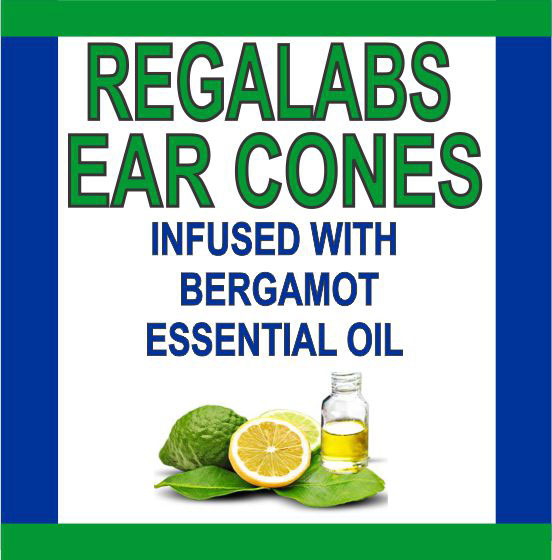 Private Label Ear Cones-Bergamot Essential Oil, 2 Pack