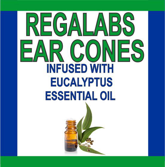 Private Label Ear Cones-Eucalyptus Essential Oil, Single Pack
