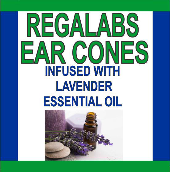 Private Label Ear Cones-Lavender Essential Oil, 2 Pack