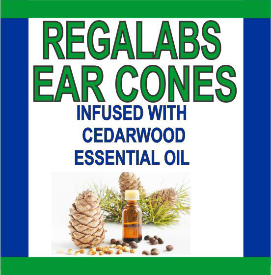 Private Label Ear Cones-Cedarwood Essential Oil, Single Pack