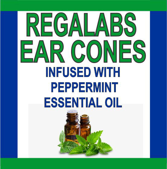 Private Label Ear Cones-Peppermint Essential Oil, Single Pack