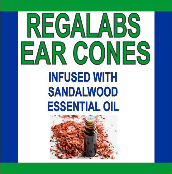 Private Label Ear Cones-Sandalwood Essential Oil, 2 Pack