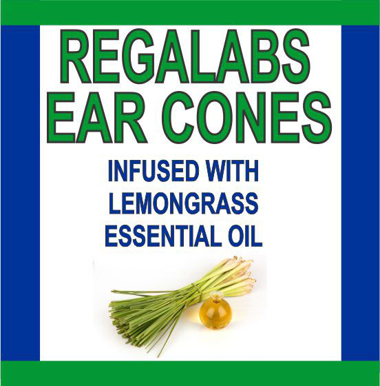 Private Label Ear Cones-Lemongrass Essential Oil, Single Pack