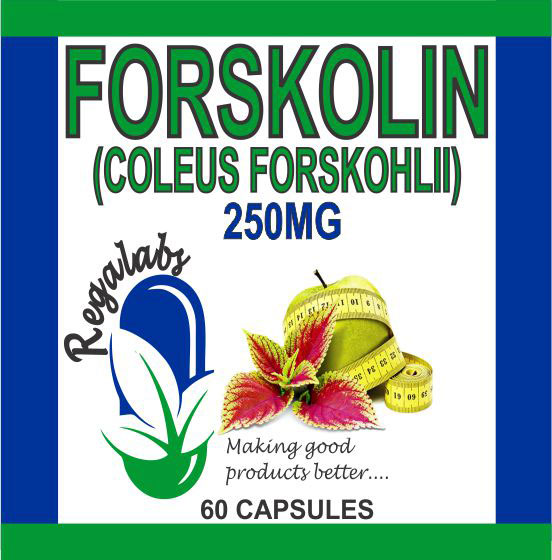 Private Label Forskolin 250mg 60 Capsules