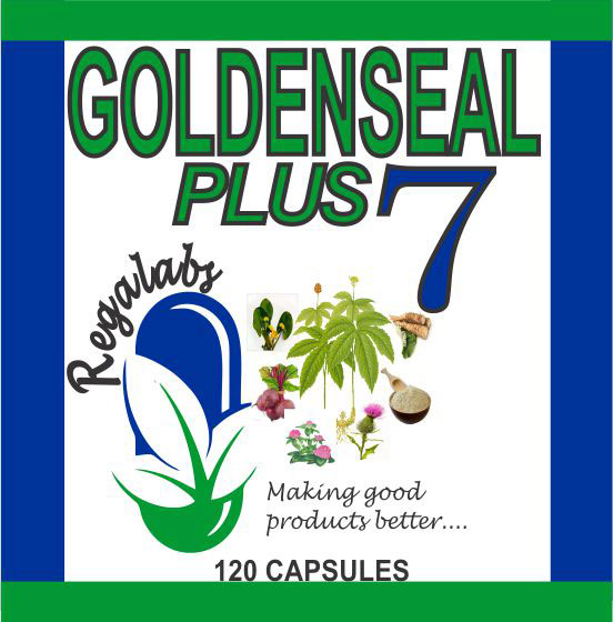 Private Label Goldenseal Plus 7, 120 Capsules