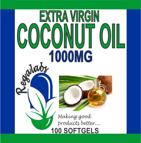 Private Label Coconut Oil 1000mg 100 Softgels