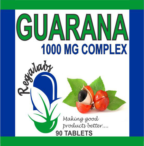 Private Label Guarana 1000mg Complex, 90 Tablets