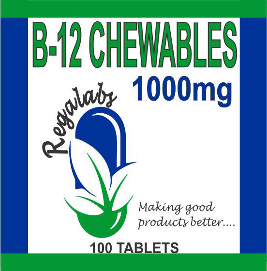 Private Label B-12 Chewables 100 Tablets