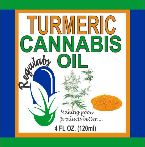 Private Label Turmeric Cannabis Oil, 4oz
