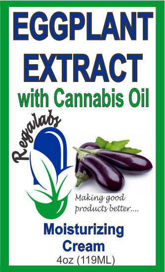 Private Label Eggplant Extract with Cannabis Oil 4oz