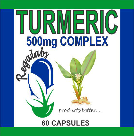 Private Label Turmeric 500mg 60 Capsules