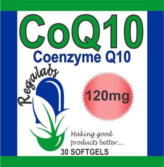 Private Label CoQ10 120mg 30 Softgels